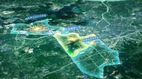 卫星地图云层俯冲科技感区位湖州AE模板