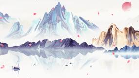 水墨中国风山水意境背景视频素材