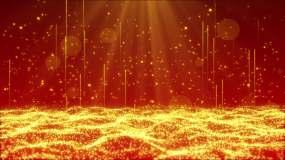 4K红色粒子晚会舞台循环背景视频素材
