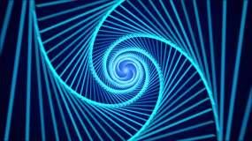 4K几何迷幻穿梭时尚背景循环视频素材
