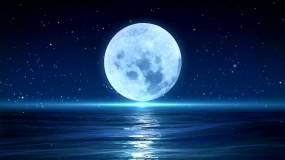 梦幻海上圆月led舞台视频背景4K视频素材