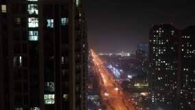 小区夜景视频素材
