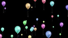 多彩节日气球上升视频素材包