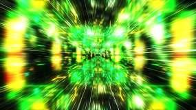 绿色科技空间穿梭vj素材视频素材