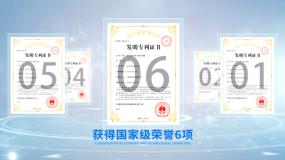 简洁企业证书分类板块AE模板