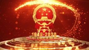 2020国庆节片头视频-02视频素材