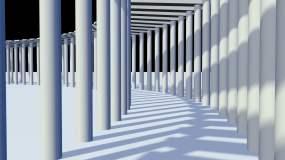 走廊光影移动视频素材