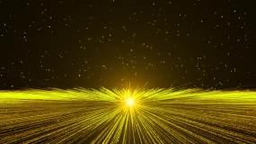 金色粒子震撼开场-1视频素材