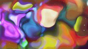 唯美梦幻绚丽水晶玻璃光晕霓虹紫色舞台背景视频素材