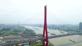 杨浦大桥航拍空境视频素材