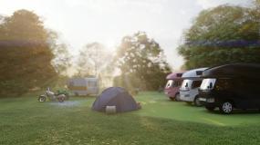 户外房车帐篷露营动画视频素材