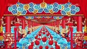红色喜庆中国风戏曲舞台场景背景素材视频素材