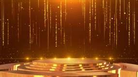 4K金色颁奖舞台大气背景循环视频素材