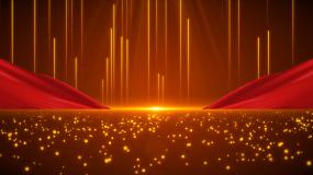 大气红绸粒子光线舞台晚会背景视频素材