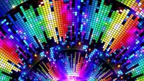 炫彩快节奏音乐跳动LED背景视频素材