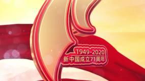 【无插件】建国71周年国庆片头AE模板