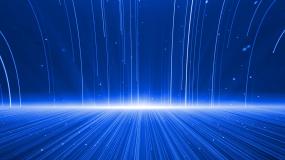 蓝色粒子光线雨动态背景视频素材
