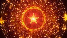 红色党政党建党旗照片墙片头AE模板
