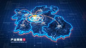原创【南昌】地图辐射AE模板AE模板