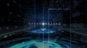 科技粒子文字标题展示AE模板AE模板