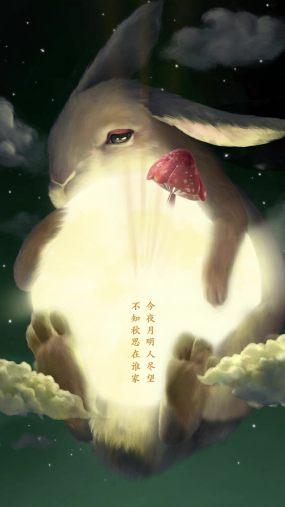 中秋可爱玉兔朋友圈视频AE模板