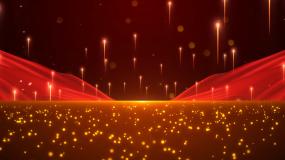 粒子红绸舞台大气背景视频素材