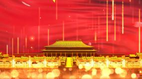震撼大气皇宫红绸背景视频素材