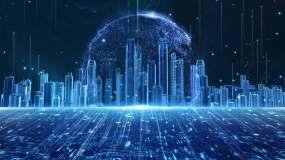 4K科技建筑粒子上升循环19视频素材