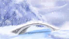 冬天雪花雪景飘雪背景视频素材