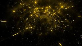唯美浪漫大气金色粒子穿梭视频素材