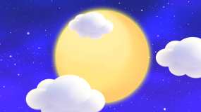 温馨月光月亮星空睡眠曲背景视频素材