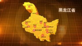黑龙江金色立体地图辐射定位AE模板2AE模板