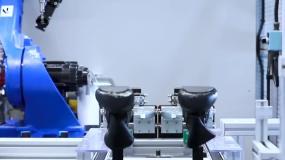 车间鞋厂造鞋运动鞋制鞋视频素材