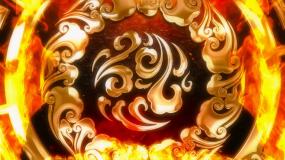 金色民族花纹彝族火把节背景视频素材
