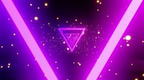 发光三角隧道视频素材