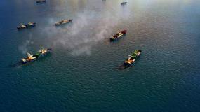 渔船出航视频素材