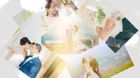 【无插件】100张照片婚礼同学会电子相册AE模板