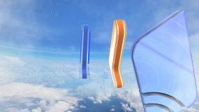 e3d玻璃材质拆分汇聚logo动画AE模板