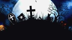 神秘恐怖万圣节背景03视频素材