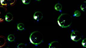 彩色细胞圆球波纹波动视频素材