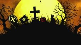 神秘恐怖万圣节背景02视频素材