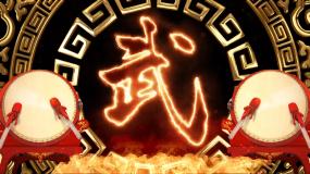 比武招亲武术功夫表演演出背景视频素材