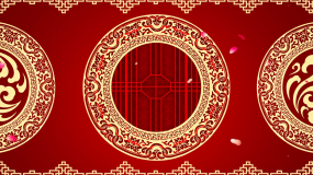 中国风花纹图案曲艺小品背景视频视频素材