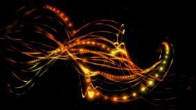 透明通道金色粒子线条光圈背景视频素材