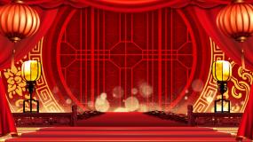 红色喜庆中国风古典舞台背景视频素材