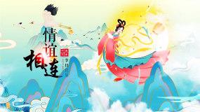 中国风国潮风中秋节ae模板AE模板