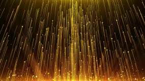 4K年会金色粒子背景循环视频素材