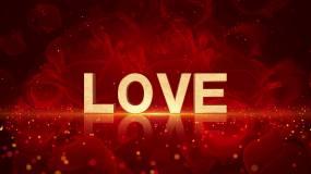 4K爱情LOVE主题背景循环视频素材