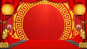 红色喜庆节日庆典通用背景视频视频素材