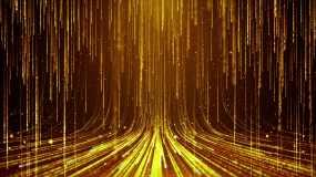 4K金色粒子雨舞台循环视频素材